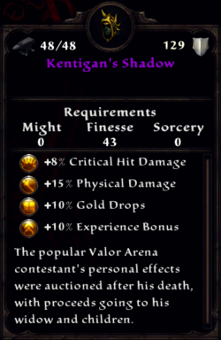 Kentigan's Shadow Inventory