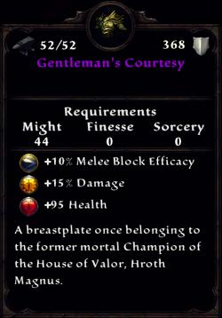 Gentleman's Courtesy Inventory