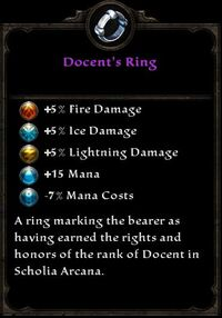 Ring Unique Docent's Ring