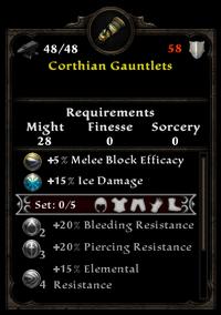 Corthian gauntlets