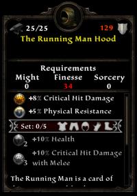 The running man hood