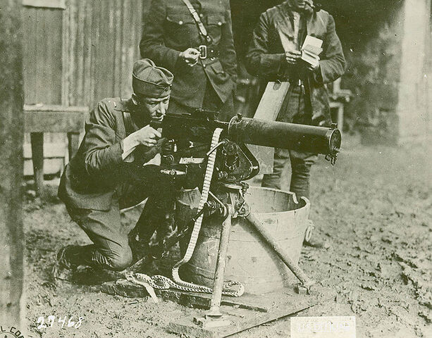 File:765px-Browning fires a Browning 1918.jpg