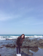 Irene by some rocks Instagram Update 4