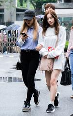 Irene and Yeri going to Music Bank 2016