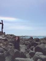 Irene by some rocks Instagram Update 3