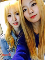 Wendy and Seulgi selfie together