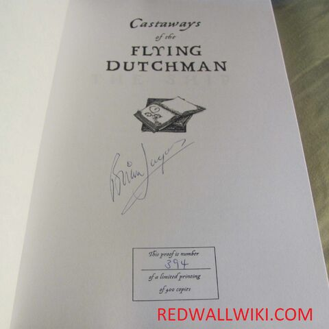 <i>Castaways</i> signed page