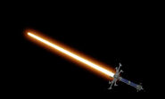 Spider hilt orange lightsaber by zylo the wolfbane