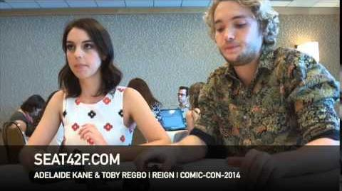 Adelaide Kane Toby Regbo REIGN Interview Comic Con 2014