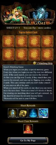Kiara Matching Game Sheet1 Empty
