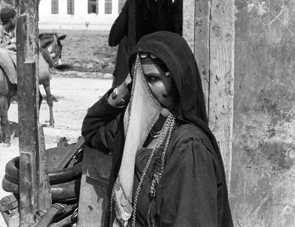 File:Beersheba Palestine, a veiled Arab woman.jpg