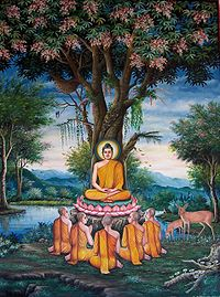 Sermon in the Deer Park depicted at Wat Chedi Liem-KayEss-1