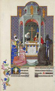 Folio 193r - The Exaltation of the Cross