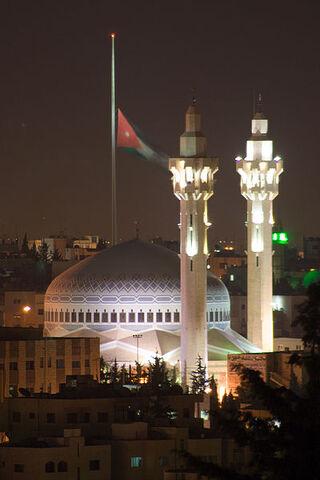 File:King Abdullah Mosque at Night.jpg