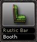 Rustic Bar Booth