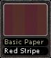 Basic Paper Red Stripe