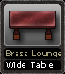 Brass Lounge Wide Table