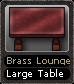 Brass Lounge Large Table
