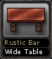 Rustic Bar Wide Table