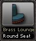 Brass Lounge Round Seat