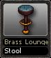Brass Lounge Stool
