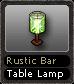 Rustic Bar Table Lamp