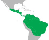 Iguana iguana distribution map
