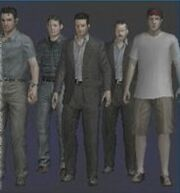 Resident Evil Outbreak File 2 Nicolas, Sean, Philip, Don, Rodney