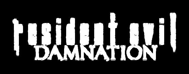 File:Biohazard Damnation - English logo (transparent).png