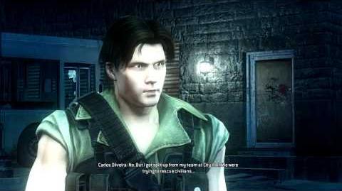 Resident Evil Operation Raccoon City all cutscenes - Saving Carlos (Harley and Tweed)