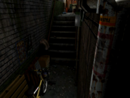 Resident Evil 3 background - Uptown - warehouse back alley d1 - R10203