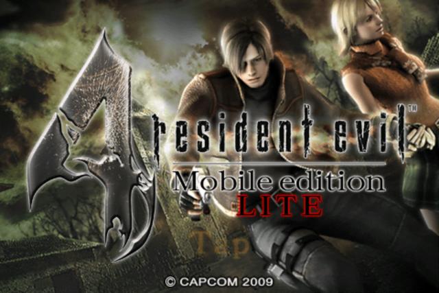 Fichier:Resident Evil 4 Mobile Edition Light - start menu.png