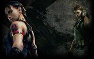 Resident Evil 5 Biohazard 5 Background Chris and Sheva