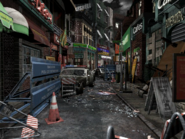 Resident Evil 3 background - Uptown - boulevard p1 - R1030F