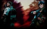 Resident Evil 5 Biohazard 5 Background Chris and Jill