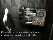 Slot for plastic card