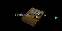 Secretary's diary A