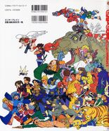 CAPCOM design WORKS art book - Back Cover