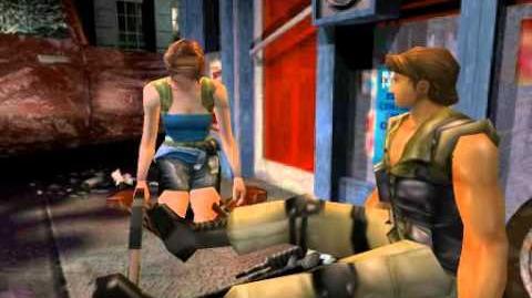 Resident Evil 3 Nemesis cutscenes - Carlos' fight (alternate)