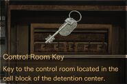 Control Room Key description