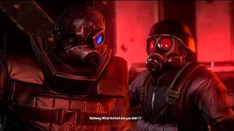 HUNK goes back (cutscene)