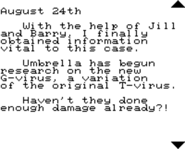File:Resident Evil 2 Game.com file - CHRIS'S DIARY - page 4.png