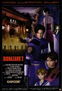 Biohazard 2 artwork - Capcom Illustration Gallery mock movie poster CFC Style Fan-Book Cap vol 8