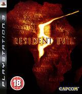Resident Evil 5 PlayStation 3 PAL Box Art FRONT BBFC