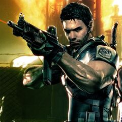 Chris Redfield with a SIG 556