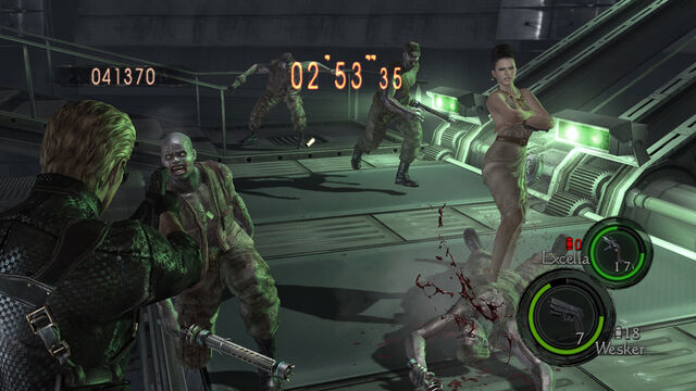 File:ResidentEvil 5 PS4 XboxOne The Mercenaries United Excella and Albert Wesker in-game 2.jpg