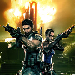 Chris and Sheva in the Oil Field