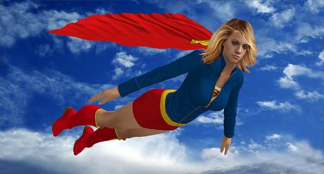 Jill as Supergirl