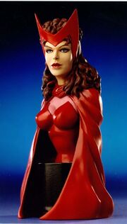 Scarlet witch bust