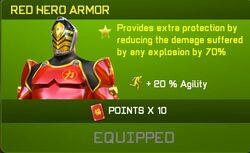 Red Hero Armor